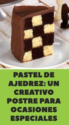 Chessboard Cake recipe for a creative dessert on special occasions Creative Desserts, Creative Cakes, Baking Recipes, Cake Recipes, Dessert Recipes, Best Recipe App, Chess Cake, Checkerboard Cake, Breakfast Cookie Recipe