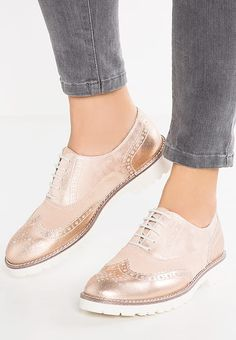 Pier One Lace-ups - rose gold - Zalando.co.uk