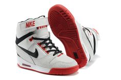 buy popular cc485 73d02 Nike Wmns Air Revolution Sky HI White Red Black Shoes - Click Image to  Close Discount
