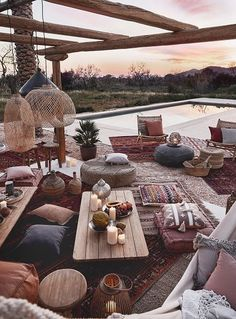 Boho Outdoor Space Boho Outdoor Space The post Boho Outdoor Space appeared first on Evelyn Simoneau. Outdoor Rooms, Outdoor Living, Outdoor Furniture Sets, Outdoor Decor, Gazebos, Nordic Living, Boho Decor, House Design, Pergola
