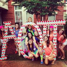 AOII letters. I'm going to paint ours like this but with red, pink, black, and white.