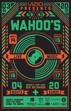 Color / Wahoo\'s SXSWahoos poster