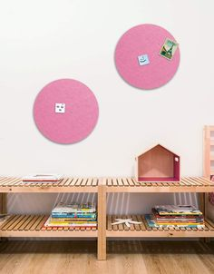 Circle Pinboard, Small in Pink Land Of Nod, Whiteboard, Wall Spaces, All Design, Fiber, Decals, Kids Rugs, Strong, Shapes