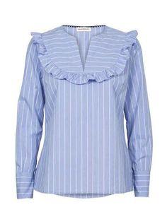 Custommade Ullaflora Moonlight Blue Shirt at atticwomenswear.com