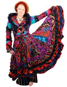 Rekonstruierte Pullover Mantel TUTORIAL von Katwise - psychedelischen Gypsy Festival Zirkus Party