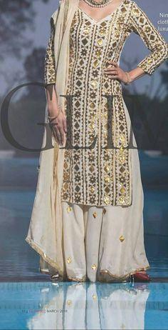 Indian Attire, Indian Ethnic Wear, Pakistani Outfits, Indian Outfits, Kurta Designs, Blouse Designs, Sharara, Anarkali, Salwar Kameez