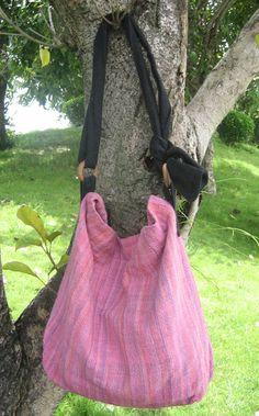 Hand woven cotton Fabrics Hip/ Shoulder bag