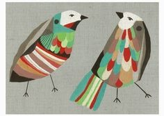 This artist's work is new to me - I spotted these prints at Bloesem this week. Being in the market for art these days I was attracted to th. Bird Illustration, Illustrations, Nz Art, Art Design, Bird Prints, Bird Art, Beautiful Birds, Pet Birds, Collages