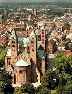 """Speyer Cathedral, Germany. The cathedral was added to the UNESCO World Heritage List of culturally important sites as """"a major monument of Romanesque art in the German Empire"""""""