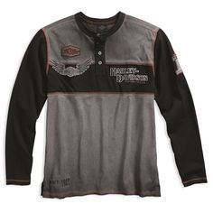 Harley-Davidson Men's Iron Block Henley