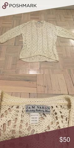 Knit vintage sweater Vintage oversized sweater. Hand knit. Good condition. Sweaters V-Necks