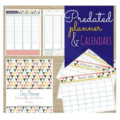 Printable 2014 Day Planner PDF 12 Organized by MyLoveforWordsShop