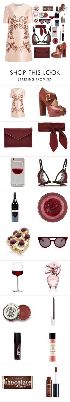 """""""red wine"""" by hadhri-rania ❤ liked on Polyvore featuring STELLA McCARTNEY, Michael Kors, Rebecca Minkoff, Chloé, Playful Promises, Lipstick Queen, INC International Concepts, Italia Independent, iittala and Max Azria"""