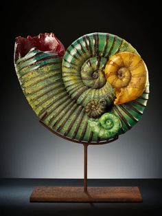 Kelly O'Dell, Artist, Sea Dream, 2012; 16 x 9 x 5 inches; blown and sculpted glass