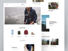 Huckberry - Landing Page by Tomáš Sebastián Steinhübel #Design Popular #Dribbble #shots