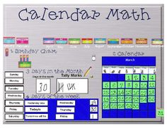 Calendar Math on Promethean Board-used calendar even in upper grades with modification...worked great. Can't wait to explore with this.