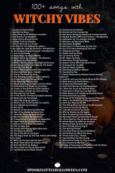 Check out my playlist of songs with witchy vibes. Whether you're looking for something dark and dangerous, light and ethereal or supernatural in nature, you're bound to find it on my Witchy Vibes playlist. Halloween Music, Halloween Tags, Halloween Playlist Music, Halloween Party Songs, Halloween Ideas, Halloween Costumes Adult, Halloween Things To Do, Halloween Drinking Games, Pagan Halloween