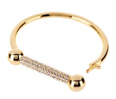 THE PAVE BARBELL CUFF GOLD http://www.thedarkhorse.com.au/shopping/BRACELETS/THE-PAVE-BARBELL-CUFF-GOLD---LUV-AJ