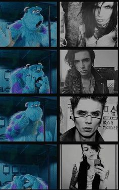 Me looking at andy and the second one though of sully I perfect