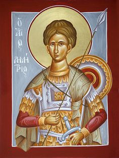 St Dimitrios the Myrrhstreamer www.ikonographics.net
