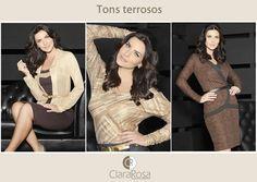 Os tons terrosos são os curingas da estação, invista na tendência tom sobre tom e arrase com os modelos Clara Rosa!