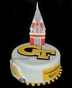 Georgia Tech Cake, I love this!!!!