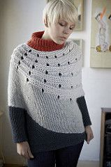 "This sweater is really calling to me. Its a slightly different version of Enchanted Mesa (included in the pattern).  I may break my ""no knitting over the summer"" rule."