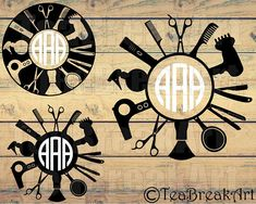R-22 -3 initials Circle Monogram, Monogram Letters, Silhouette Projects, Digital Stamps, Sell On Etsy, Hairdresser, Cutting Files, Wood Signs, Original Artwork