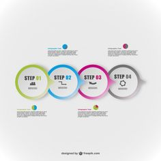 Round vector abstract infography elements