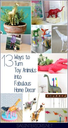 DIY Round Up: Unexpected + Unusual Ways to Turn Toy Animals into Fabulous Home Decor