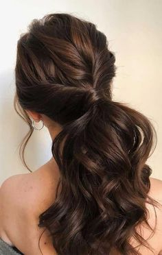 ponytail updos for weddings, ponytail hairstyles, ponytail hairstyles wedding ponytail, prom hairstyles, prom ponytail wedding hairstyles Box Braids Hairstyles, Wedding Hairstyles, Bridesmade Hairstyles, Women's Long Hairstyles, School Hairstyles, Retro Hairstyles, Black Women Hairstyles, Ponytail Updo, Hair Ponytail Styles