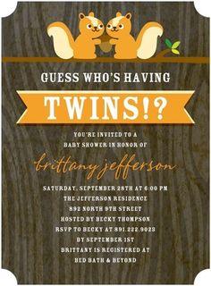 Two Cute - Baby Shower Invitations - Magnolia Press - Apricot Orange
