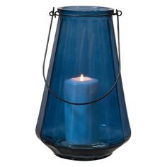 Home Essentials and Beyond Steel Optic 1 Light Outdoor Hanging Lantern