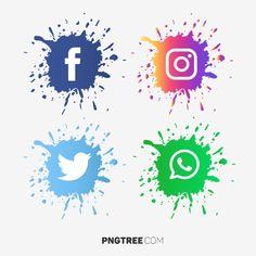 Facebook And Instagram Logo, Logo Facebook, Geometric Background, Background Patterns, Icon Design, Adobe Illustrator, Whatsapp Png, Snapchat Logo, Instagram Logo