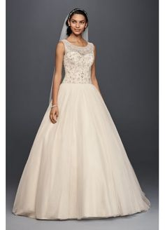 A gorgeous ballgown for an elegant, classic bride by @davidsbridal.