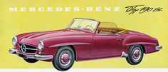 Mercedes-Benz #190SL, W 121 series, poster. If you like Mercedes Benz 190 SL's please visit us on Facebook at https://www.facebook.com/190SL