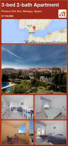 3-bed 2-bath Apartment in Riviera Del Sol, Malaga, Spain ►€119,950 #PropertyForSaleInSpain