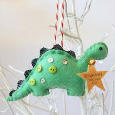 Personalised Dinosaur Tree Decoration by MissSDesigns on Etsy