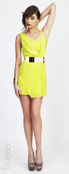 Truese Flare dress lime $259.00