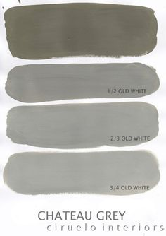 Varying tints possible with Chalk Paint® decorative paint by Annie Sloan. A combination of Chateau Grey & Old White by Ciruelo Interiors.