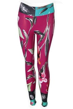 21600df4f8 Liquido Active Extra Long Printed Legging in Deep Orchid Passion Printed  Leggings