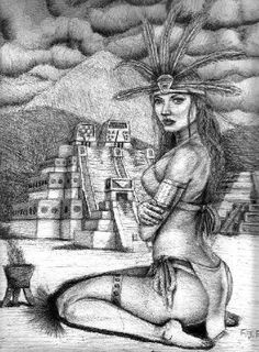 Aztec Nahua Mexica warrior princess