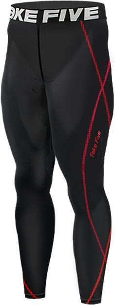 Take Five Mens Skin Tight Compression Base Layer Running Pants Leggings 019 CA