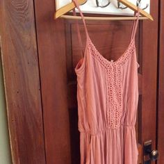 Blush Romper Super soft material. Much like Brandy Melville. Light blush rose color. Bought from a local boutique, but never worn. PacSun Pants Jumpsuits & Rompers