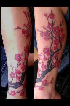 This is exactly what I want, on my right leg. Cherry blossoms have a lot of personal meaning for me.