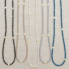 Get more versatility in your accessories with our crystal beaded layering necklaces Mix and match to make the perfect arm party or layer up with your other #lovesaffect statement pieces for a flirty, fun look!