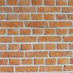 Papel de parede tijolo clássico laranja 001