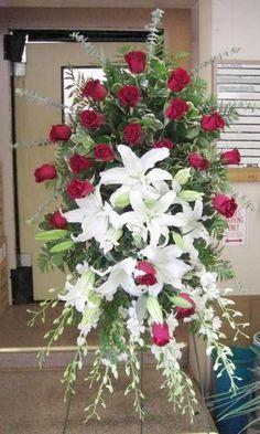 Casket Flowers, Altar Flowers, Church Flowers, Funeral Flowers, Wedding Flowers, Funeral Floral Arrangements, Unique Flower Arrangements, Ikebana, Funeral Sprays