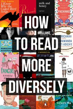 A five-step plan for how to read more diversely: buy books written by diverse authors, attend events featuring diverse authors, share diverse books and engage with. How To Read More, What To Read, Book Challenge, Reading Challenge, Reading Lists, Book Lists, Reading Skills, Study Skills, Reading Strategies