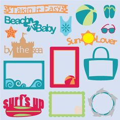 Beach Bum SVG Collection Part I - $5.99 : SVG Files for Silhouette, Sizzix, Sure Cuts A Lot and Make-The-Cut - SVGCuts.com